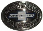 Chevrolet Oval Ornate Belt Buckle with display stand